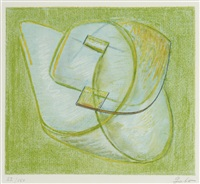 opus xx (composition in green) by naum gabo
