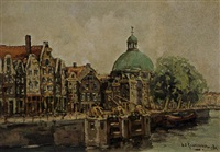 a view of amsterdam by hendrik cornelis kranenburg