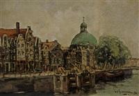 a view of amsterdam by hendrik cornelis kranenburg