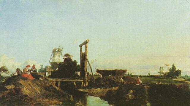 moulins dans la campagne by georges de lafage laujol