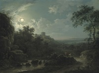 an arcadian moonlit scene by abraham pether