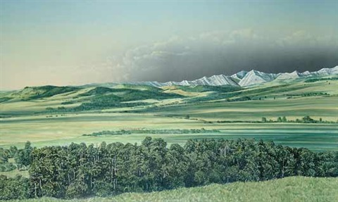 morning shadows near turner valley by william bill h webb