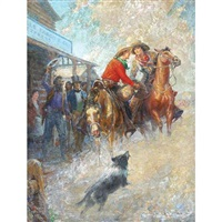 the spirit of the pony express by percy v.e. ivory