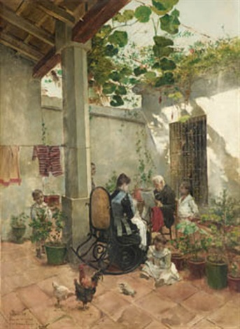en el patio by joaquín agrasot y juan