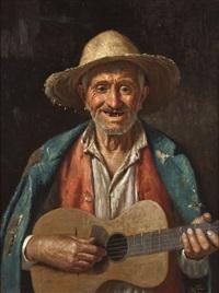 italienischer vagabund mit gitarre by giulio amadio