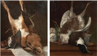 natura morta con cacciagione (2 works) by arcangelo resani