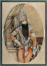 a portrait of fath'ali shah qajar by anonymous-persian (19)