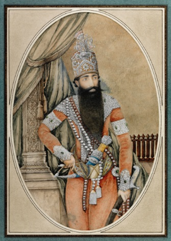 a portrait of fathali shah qajar by anonymous persian 19