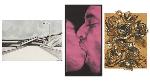 ornamental love ii study triptych by robert longo