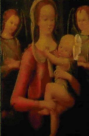 madonna col bambino e angeli by jacopo del sellaio