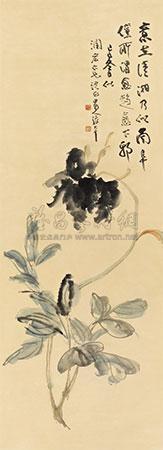 牡丹 the peony by zhang daqian