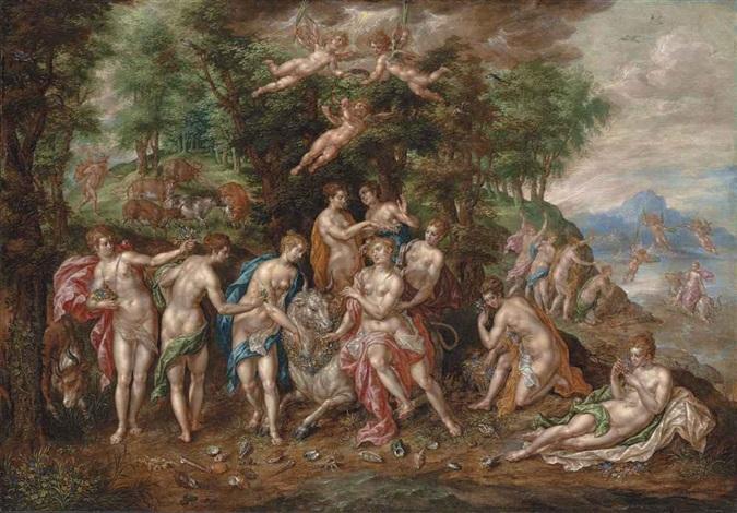 the rape of europa by hendrick de clerck