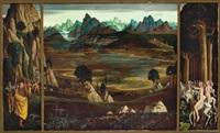 entdeckung der neuen welt - verlust der unschuld - natürlichkeit (triptych) by herbert reyl-hanisch