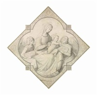 the madonna and child surrounded by angels by johann friedrich overbeck