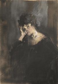 figura femminile by alberto sughi