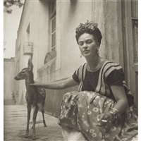 frida with granizo by nickolas muray