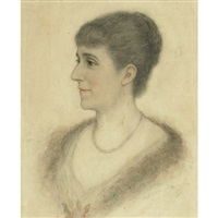 portrait of emily youmans carlyle (the artist's mother) by florence carlyle