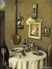interior scene by charles spencelayh