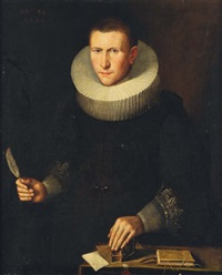 portrait d'homme en buste by thomas de keyser