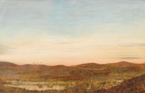 coastal landscape with dunes by oscar bojesen