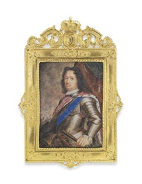 charles i (1654-1730), landgrave of hesse-cassel, in gilt-edged silver armour, in an ermine-lined red velvet cloak fastened with a gem-set clasp by wernher hassel
