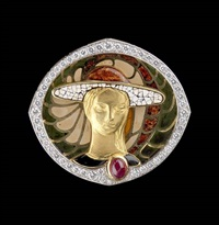 broche (model la dame au chapeau) by jean holemans