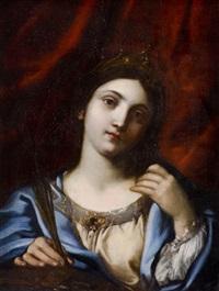santa catalina de alejandría by francesco giovanni gessi