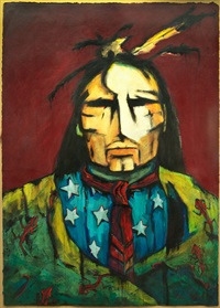 indian portrait with stars and stripes by arlene tudell haiyen