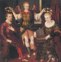 an allegorical marriage portrait by luca monbello