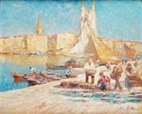 le débarquement du poisson dans le port by merio ameglio