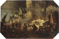 vauban en van coehoorn voor de vesting namen, 1692 by august allebé