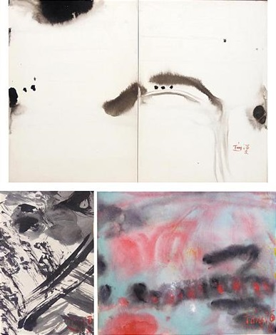 untitled diptych 2 others 3 works by tang haywen