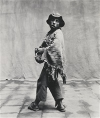 young man, cuzco by irving penn