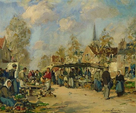 marktszene by paul emile lecomte