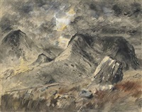 maen bras (big stone and rain) by john piper