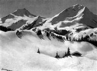 winter in den skibergen by josef obermoser