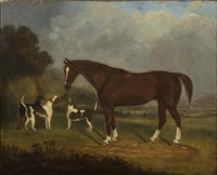 horse and hounds by british school (19)