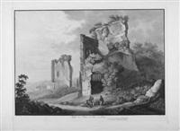 aqueducs de l'empereur claude à rome (+ vestiges des bains de tite à rome; 2 works from ruinen vom alten rom) by franz hegi