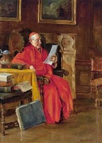 lesender kardinal by hans kratzer