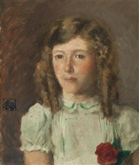 study of patricia hiddingh by rupert bunny