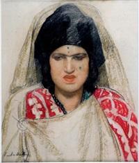 portrait de femme mauresque by emile aubry