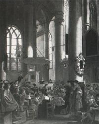 a church interior by rutger van langevelt