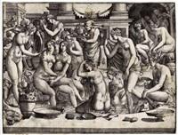 femmes au bain (after penni) by jean mignon