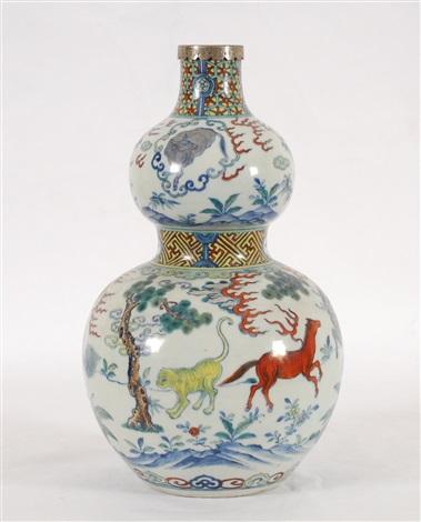 vase double gourde doucai