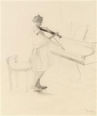 violinenspielerin by emanuel baschny
