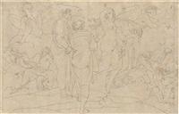 the condemnation of paolo and francesca, dante, inferno, 5 by bonaventura genelli
