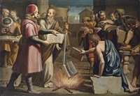 saint paul and the burning of pagan books at ephesus by lucio massari