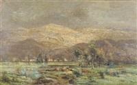 troupeau au pied de la montagne by marie guillaume charles leroux