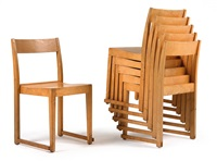 stacking chair (set of 6) by sven markelius