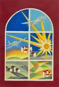 vetrata futurista by pietro ardigò